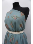 Шифон вискозный цветы на серо-голубом PRT-H3 09121934