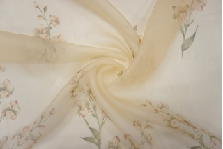 Шелковая органза цветы PRT-С3 17121901