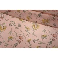 Шифон вискозный цветы на розовом PRT-H3 09121937