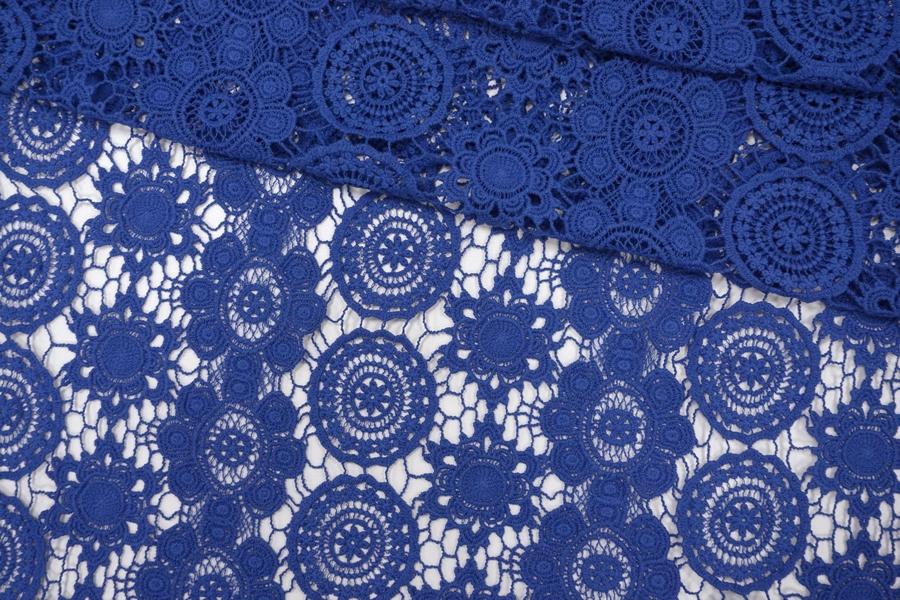 ОТРЕЗ 2,8 М Макраме хлопковое синее PRT-(52)-20121903-3