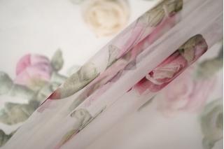 Шелковая органза цветы PRT-G2 20121905