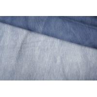 ОТРЕЗ 0,4 М Шелковая органза бело-синяя PRT-С3 20121919-1