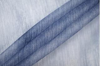 Шелковая органза бело-синяя PRT-G2 20121919