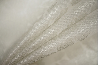 Шелковая сетка под кружево серебристое PRT-G2 20121922
