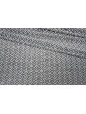 Трикотаж холодный вискозный серый ромбы PRT-X5 03091924