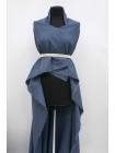 Хлопок костюмно-плательный в клетку сине-белый PRT-C4 05091907