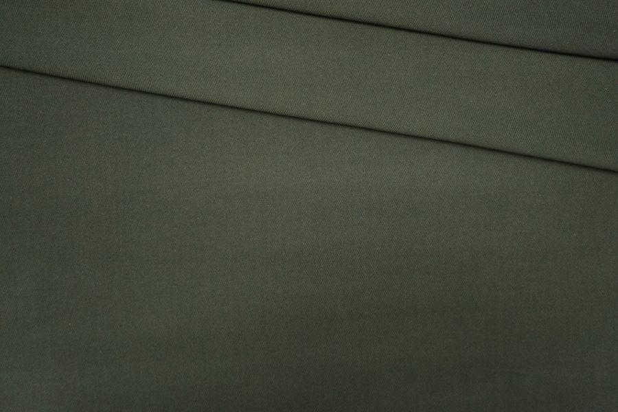 Костюмная шерсть-стрейч темно-зеленая PRT-G4 05091909
