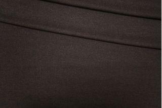 Твид шерстяной с вискозой черно-коричневый PRT-E5 08091905