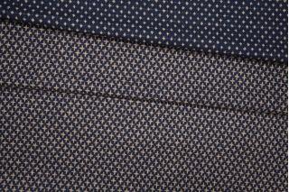 Костюмная шерсть двусторонняя сине-бежевая PRT-C4 08091909