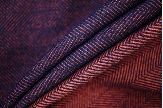 Костюмная шерстяная диагональ сине-оранжевая PRT-I2 08091931