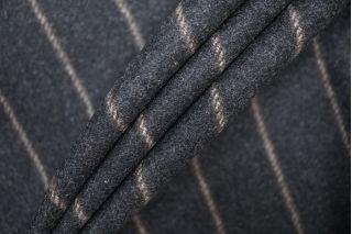 Костюмная шерсть темно-серая в полоску PRT-E5 10091903