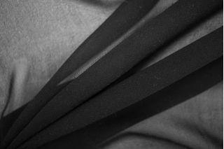 Шифон шелковый черный PRT-G2 12081939