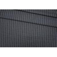 Тонкая костюмная шерсть серая в полоску PRT-E4 13081915