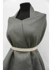 ОТРЕЗ 2 М  Рогожка костюмная лен с хлопком PRT-K4 15111932-1