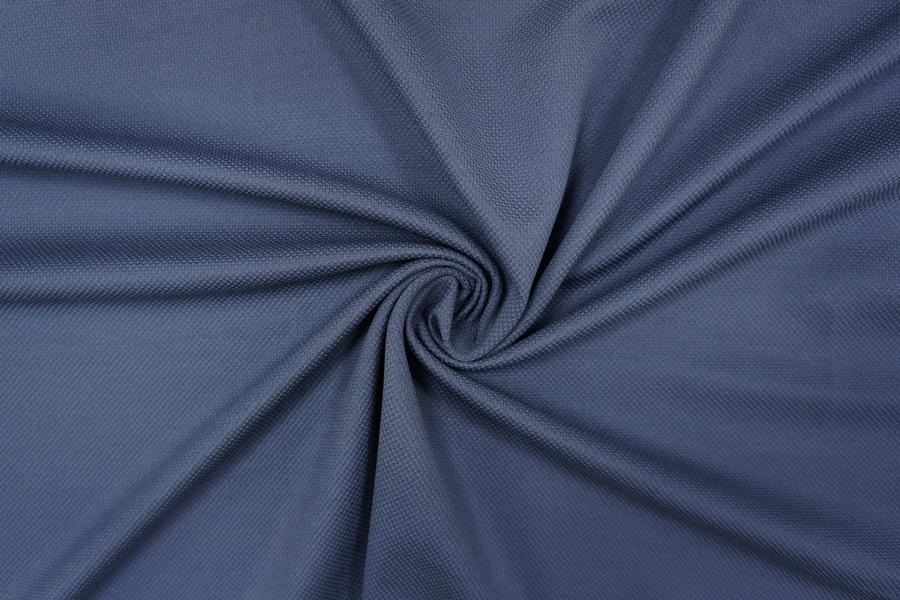 Трикотаж фактурный вискозный серо-синий PRT-D5 10081924