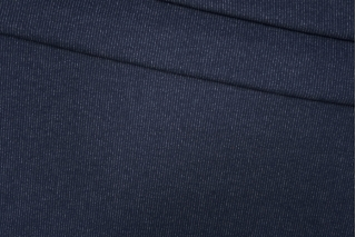 Трикотаж шерстяной темно-синий в полоску Donna Karan PRT-D7 23101909