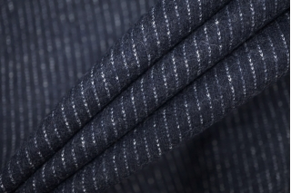 Трикотаж шерстяной темно-синий в полоску Donna Karan PRT-D4 23101909