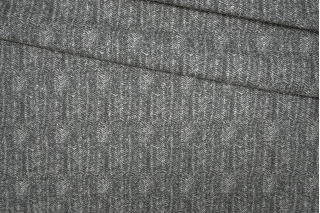 Трикотаж шерстяной серый елочка Donna Karan PRT-E7 23101912
