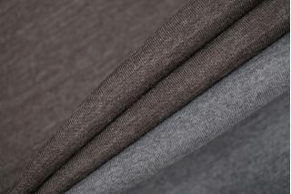 Трикотаж шерстяной серо-коричневый Donna Karan PRT-E7 23101917