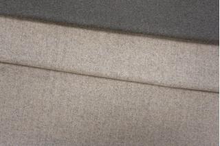 Костюмная шерсть двусторонняя серо-бежевая PRT-i5 28101902