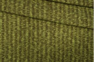 Трикотаж шерстяной коричнево-зеленый в елочку PRT-E7 28101910