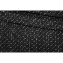 ОТРЕЗ 1,45 М Трикотаж шерстяной геометрия черно-белый PRT-(60)- 28101915-1