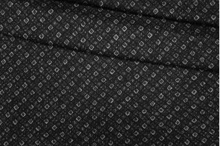 Трикотаж шерстяной геометрия черно-белый PRT-E6 28101915