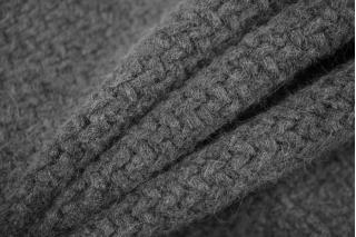 Трикотаж крупной вязки темно-серый PRT-E7 28101922