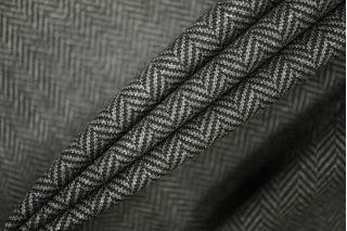 Трикотаж поливискозный елочка черно-серый PRT-W5 10081918