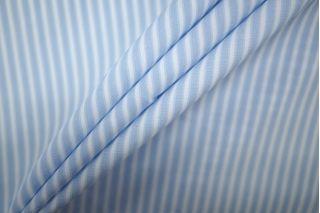 Поплин рубашечный полоска бело-голубая PRT-B2 19081901