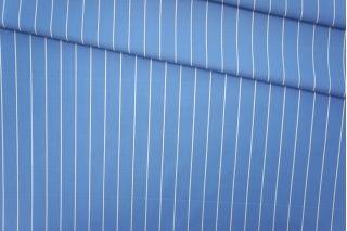 Поплин рубашечный голубой в белую полоску PRT-B2 19081905
