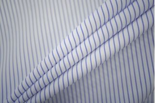 Поплин рубашечный бело-голубой в полоску PRT-B2 19081907