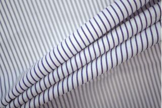 Поплин рубашечный бело-фиолетовый в полоску PRT-B2 19081908