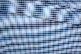 Хлопок плательный клетка черно-сине-белая PRT-B3 19081913