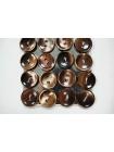 Пуговица перламутр коричневая 12 мм PRT 09012001