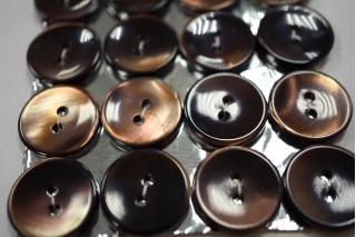 Пуговица перламутр коричневая 18 мм 28121905