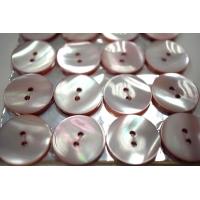 Пуговица перламутр бледно-розовая 20 мм PRT 28121906