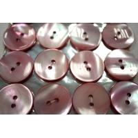 Пуговица перламутр розовая 20 мм PRT 28121909