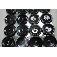 Пуговица перламутр черно-серая 17 мм PRT 28121911