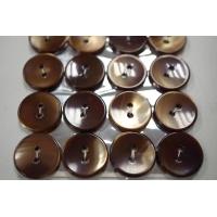 Пуговица перламутр коричнево-карамельная 17 мм PRT 28121912