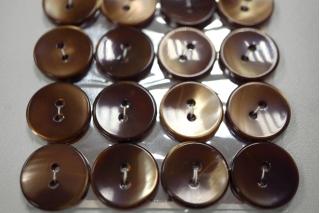 Пуговица перламутр коричнево-карамельная 17 мм 28121912