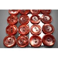 Пуговица перламутр красная 15 мм PRT 28121913