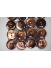 Пуговица перламутр коричневая 15 мм PRT 28121914