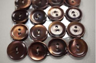Пуговица перламутр коричневая 15 мм 28121914