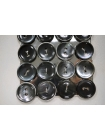 Пуговица перламутр черно-серая 15 мм PRT 28121917