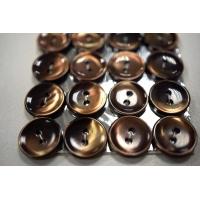 Пуговица перламутр коричневая PRT 14 мм 28121918