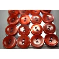 Пуговица перламутр красная 14 мм PRT 28121920