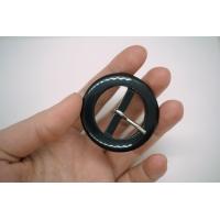 Пряжка пластик черная круглая PRT 4017