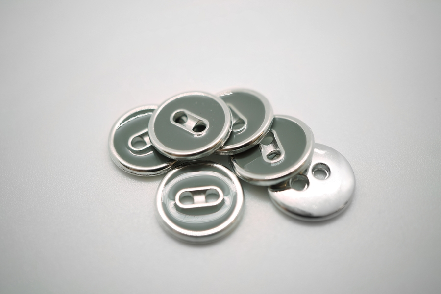 Пуговица серебристая 13 мм PRT 10012006