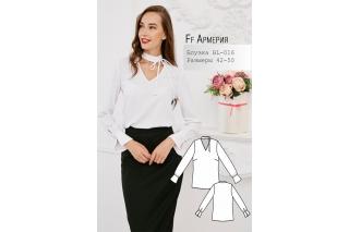 Блузка с завязками Армерия р-ры 42-50 BL-016